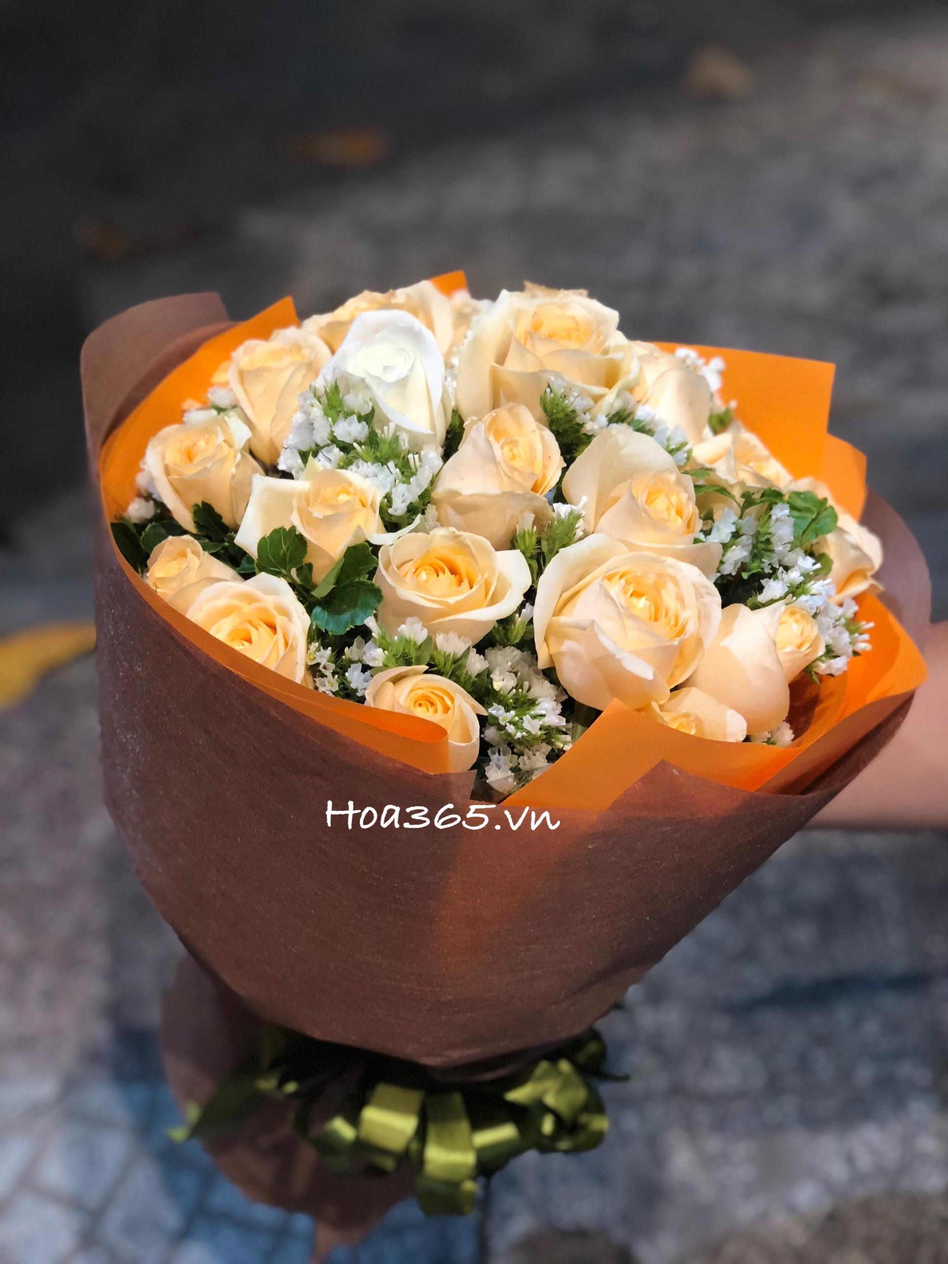 hoa chúc mừng sinhnhật, hoa bó đẹp